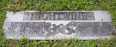 Mildred Catherine Boatright and Oliver Nightwine Marker