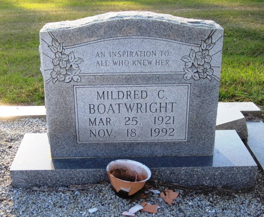 Mildred Creech Boatwright Gravestone