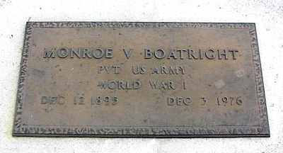 Monroe Vaughn Boatright Marker