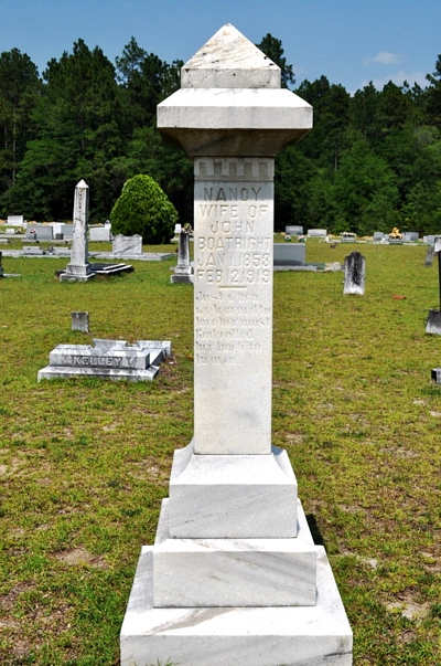 Nancy Ann Deal Boatright Gravestone: