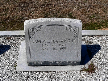 Nancy Ela Nannie McGee Boatwright Gravestone