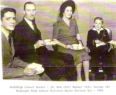 Ned, Dean, Mildred and George Boatright