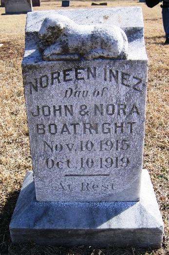 Noreen Inez Boatright Gravestone