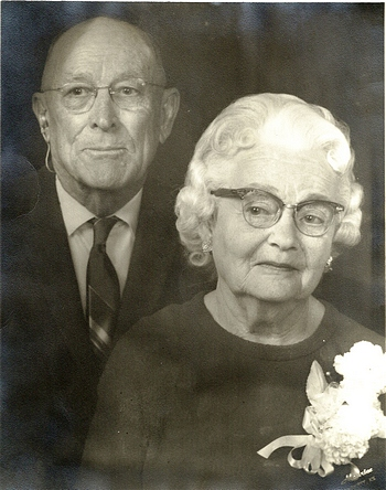 Norval Butler and Dessie Luella Merrifield Boatwright 60th wedding anniversary