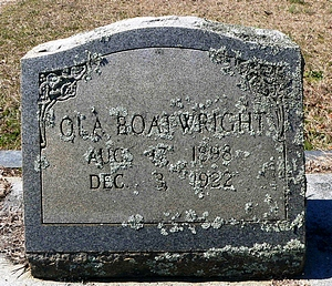 Ola Smith Boatwright Gravestone