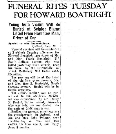 Orval Howard Boatright Obit: