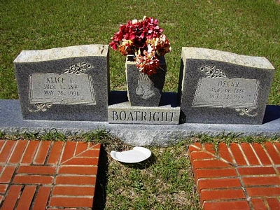Oscar and Alice Mae Carter Boatright Gravestone