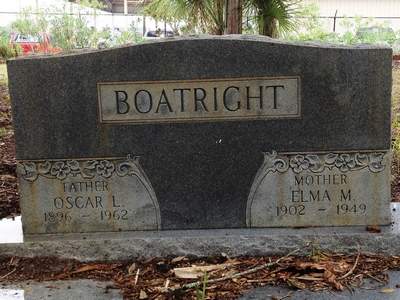 Oscar Leland and Ella M. Boatright Gravestone