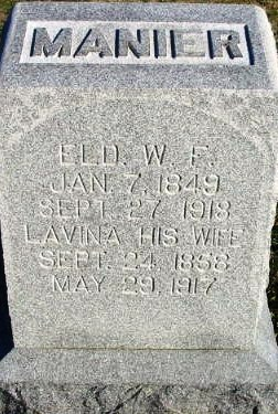 Patience Lavine Boatright and Wesley F. Manier Gravestone