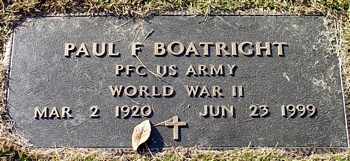 Paul Franklin Boatright Marker