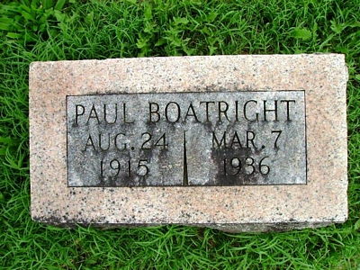 Paul Irvin Boatright Gravestone