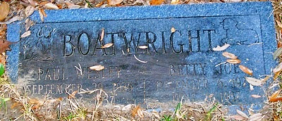 Paul Wesley Boatwright Gravestone