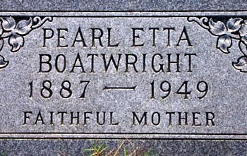 Pearl Etta Reed Boatwright Marker