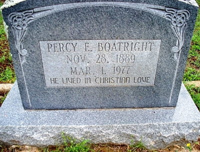 Percy Elmer Boatright Gravestone