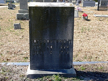 Louis Pope Boatwright Gravestone