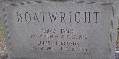 Purvis James and Estella Louise Ferguson Boatwright Gravestone