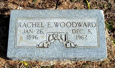 Rachel Elizabeth Boatright Woodward Marker in Elmwood Cemetery