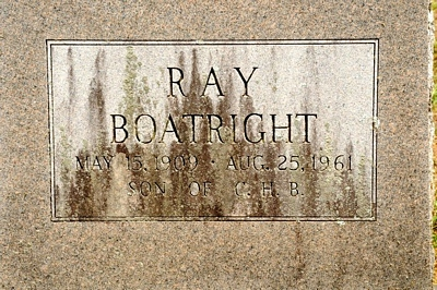 Ray Boatright Gravestone