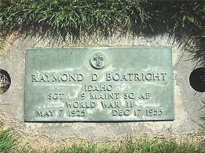 Raymond David Boatright Gravestone