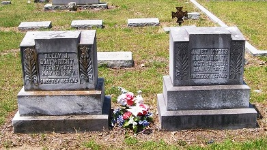 Reedy Jackson and Jeanette G. Kyzer Boatwright Gravestone