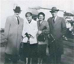 First Pastor, David Elmore Boatwright and Cora, Mr.& Mrs. F. A. Sunderman
