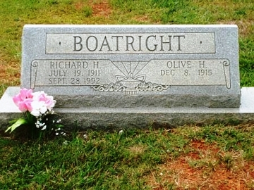 Richard Hoyt Boatright Gravestone