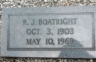 Riley Jarman Boatright Gravestone