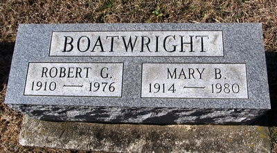 Robert Chester and Mary Belle Perkinson Boatwright Gravestone