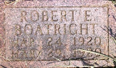Robert Edward Boatright Marker