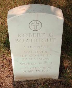 Robert Garner Boatright Gravestone: