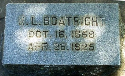 Robert L. Boatright Gravestone