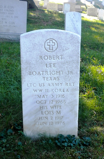 Robert Lee Boatright Gravestone