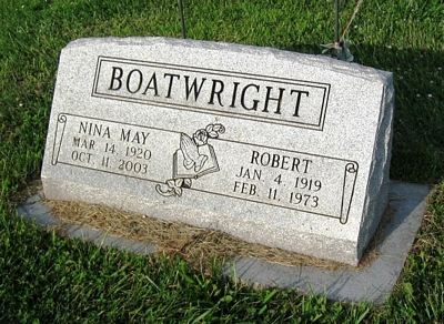 Robert Lee and Nina May Boatwright Gravestone: