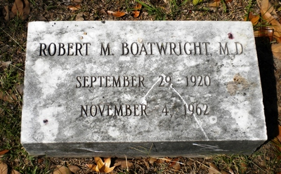 Robert McDearman Boatwright Gravestone