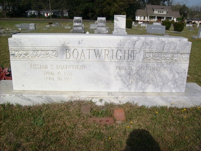 Robert Zachariah Boatwright Gravestone