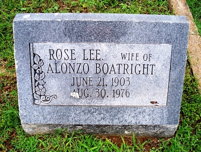 Rosa Lee Hinton Boatright Gravestone