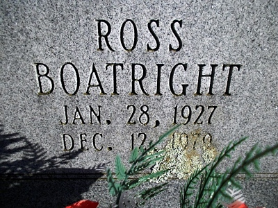 Ross Freeman Boatright Gravestone