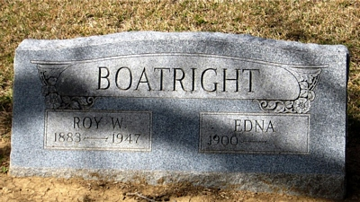 Royal Watson and Jessie Edna Boatright Gravestone