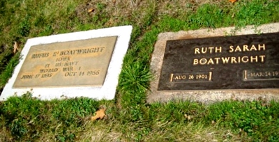 Rufus Ellsworth Boatwright Gravestone