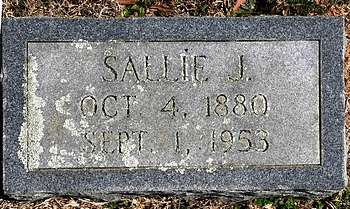 Sallie Jones Boatwright Marker