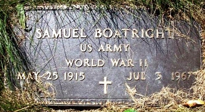 Samuel M. Boatright Gravestone
