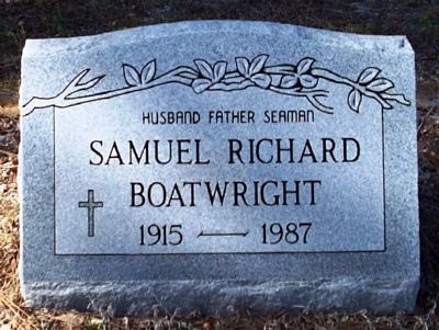 Samuel Richard Boatwright Gravestone