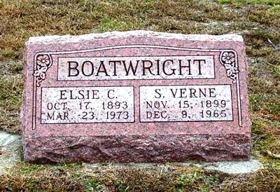 Samuel Verne Boatwright and Elsie Catherine Correll Gravestone