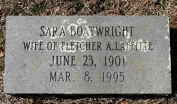 Sara Boatwright Laffitte Marker