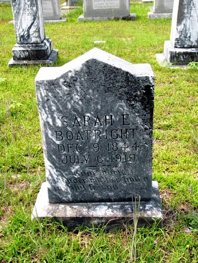 Sarah Langley Boatright Gravestone