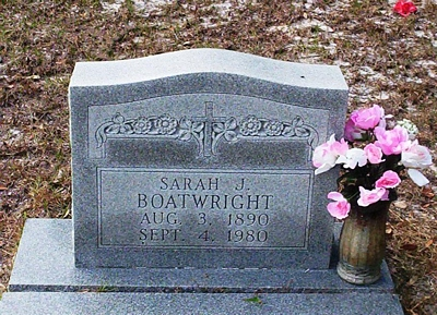 Sarah Jane Reynolds Boatwright Gravestone