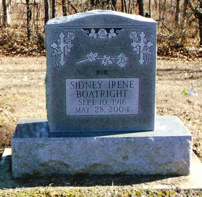 Sidney Irene Brown Boatright Gravestone