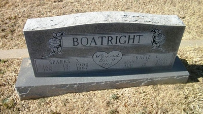 Sparks S. and Katie Leo Tucker Boatright Gravestone