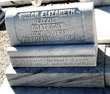 Susan Elizabeth Starling Boatright Gravestone