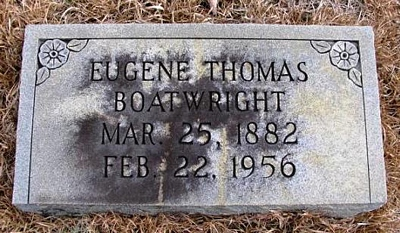 Thomas Eugene Boatwright Gravestone